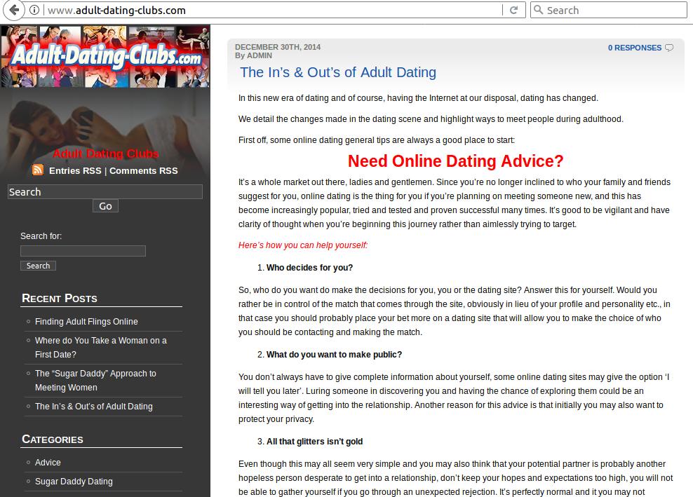 Dating website rig